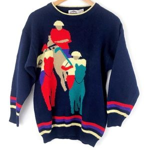 Cambridge Dry Goods Wool Knit Polo Player Sweater